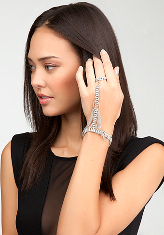 bebe Chain & Rhinestone Hand Jewelry - WEB EXCLUSIVE