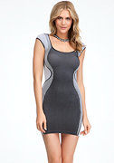 bebe Contour Ribbed Bodycon Dress