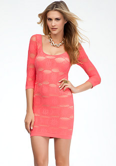 bebe Flower Lace Dress