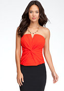 Draped Knot Silk Bustier - ONLINE EXCLUSIVE at bebe