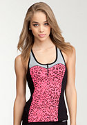 Printed Zipper Tank - BEBE SPORT ONLINE EXCLUSIVE at bebe