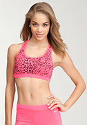 Printed Sports Bra -BEBE SPORT ONLINE EXCLUSIVE at bebe