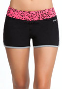 Leopard Print Shorts - BEBE SPORT ONLINE EXCLUSIVE at bebe