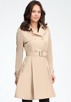 bebe Paulette Trench Coat Dress