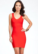 bebe Double V-Neck Bandage Dress