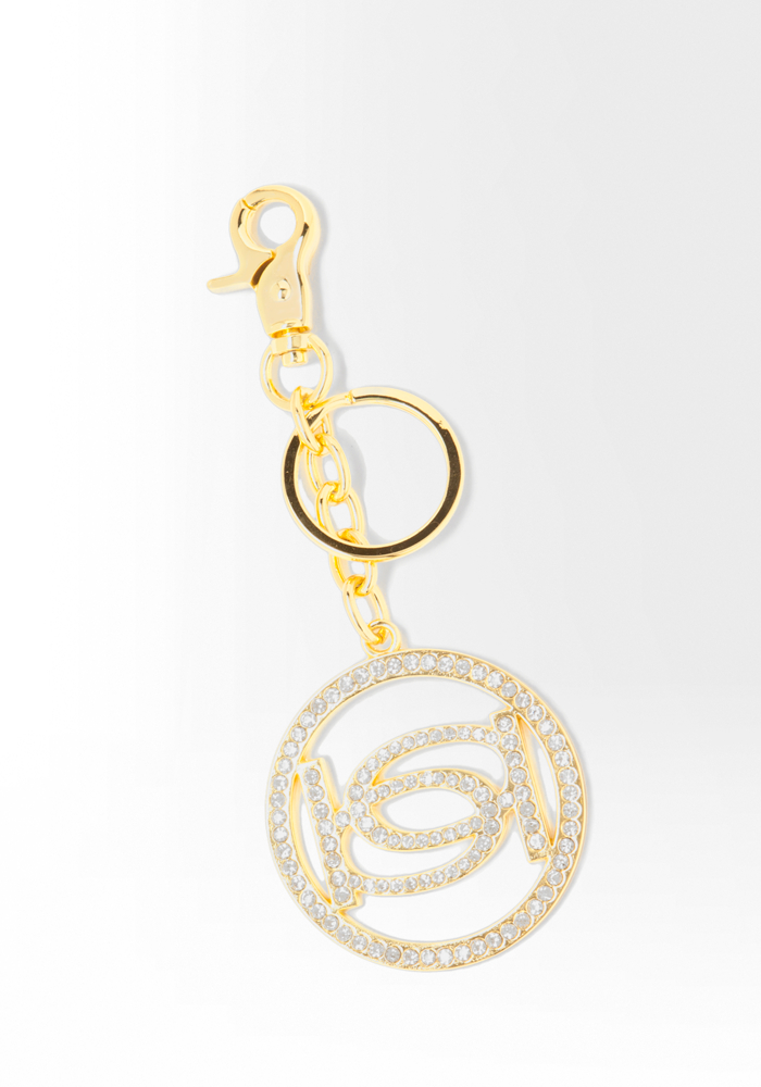 Interlocking Logo Keychain - Gold - 1Sz