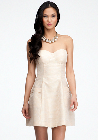 Strapless Dome Dress at bebe