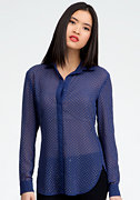 bebe All Over Studded Button Up Blouse