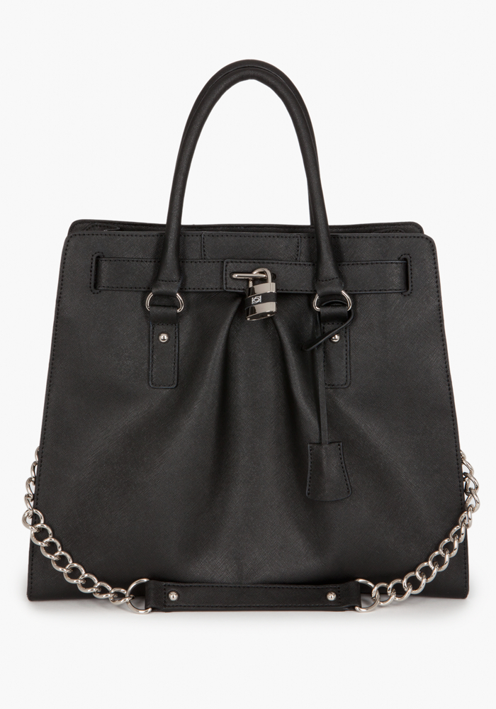 Lock Leather Tote