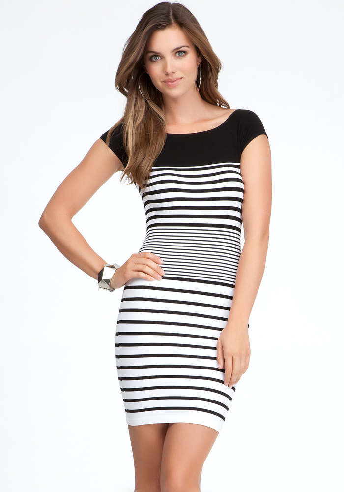 Colorblock Stripe Bodycon Dress