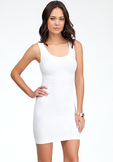 bebe Multi Texture Back Cutout Dress