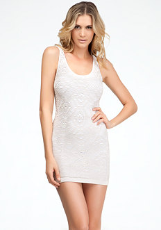 bebe Diamond Lace Dress