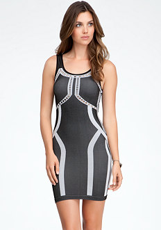 bebe Shaped Colorblock Dress