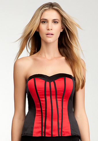 Piped Two Tone Bustier - ONLINE EXCLUSIVE at bebe