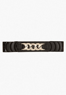 bebe Chainlink Stretch Belt