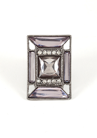 bebe Art Deco Cocktail Ring