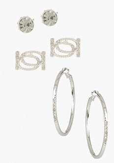 Interlocked Logo Earring Set - ONLINE EXCLUSIVE at bebe