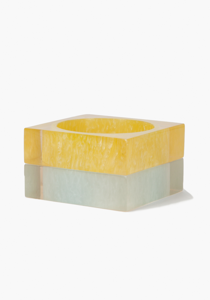 Square Lucite Bangle Set - Multi - 1Sz