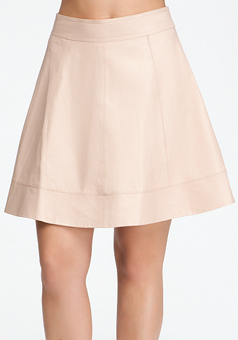 bebe Leather Circle Skirt