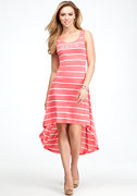 Neon Stripe Hi-Lo Tank Dress - WEB EXCLUSIVE at bebe