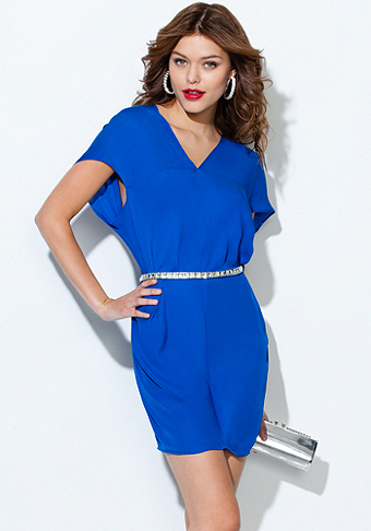 bebe V-Neck Shift Dress