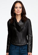 bebe River Moto Leather Jacket