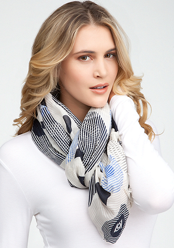 Circle Geometric Logo Print Scarf at bebe