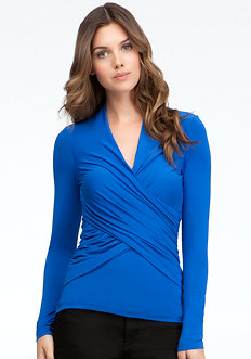 bebe Faux Wrap Top