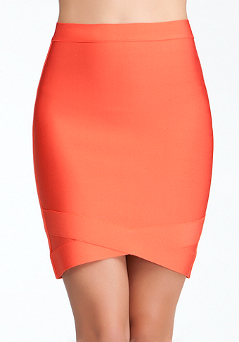 bebe Wrapped Bandage Skirt