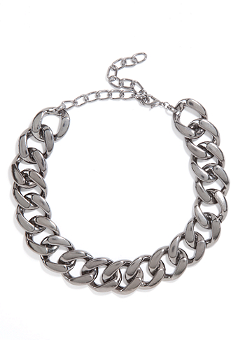 bebe Oversized Chainlink Necklace