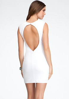 bebe Exposed Back Knit Dress