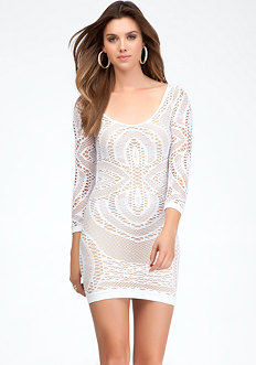 Crochet Lace Dress - ONLINE EXCLUSIVE at bebe