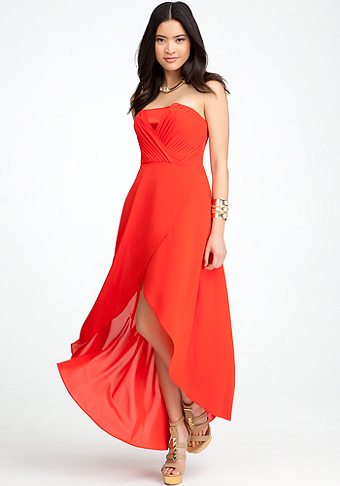 Overlapped High Low Dress - ONLINE EXCLUSIVE at bebe