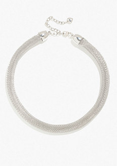 bebe Short Mesh Necklace