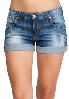 Roll Cuff Boyfriend Shorts at bebe