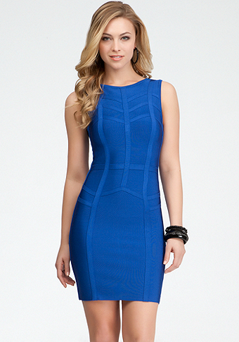 Chevron Stripe Bandage Dress - ONLINE EXCLUSIVE at bebe