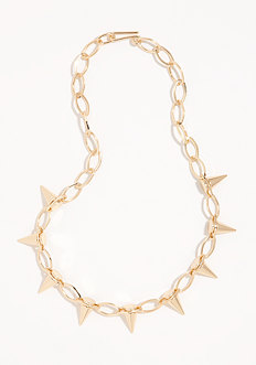 bebe Spike & Link Necklace