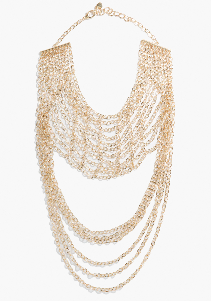 Multi Chain Drape Statement Necklace