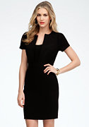 bebe Square Neckline Crepe Dress