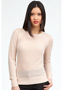 bebe Mesh Stitch Cozy Pullover Sweater