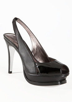 Zahara Leather Slingback Pump at bebe