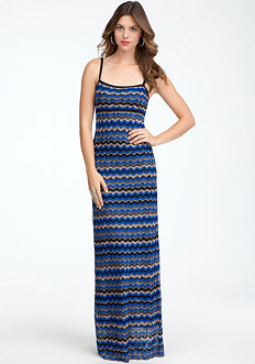 bebe Chevron Long Maxi Dress