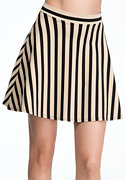 Stripe Mini Circle Skirt at bebe