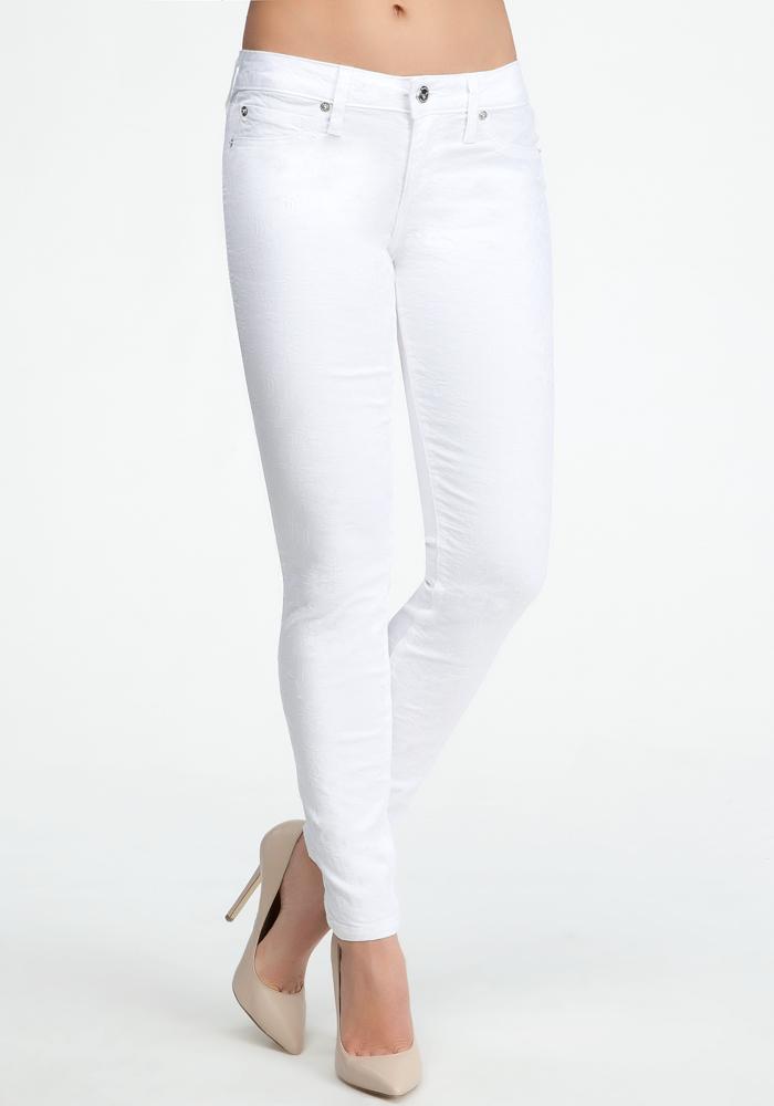 White Floral Jacquard Icon Skinny Jean