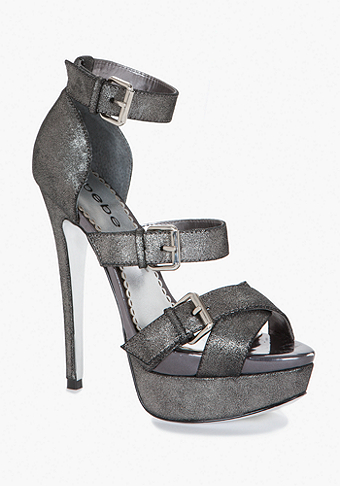 bebe India Metallic Leather Sandal
