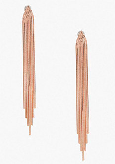 bebe Layered Snake Chain Duster Earring