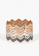 bebe Multi Chevron Skinny Bangle Set