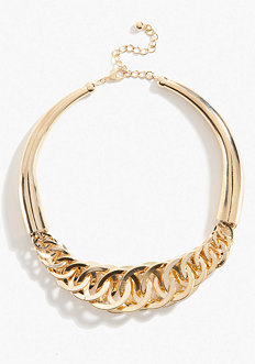 bebe Interlocked Link Collar Necklace