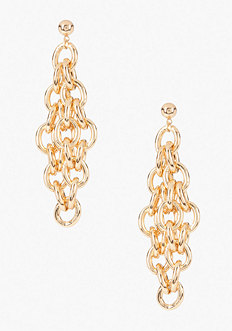 bebe Chainlink Tiered Earring