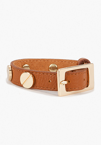 bebe Leather & Rivets Bracelet